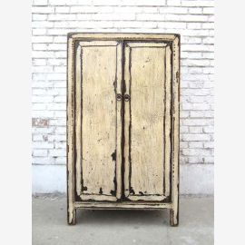 China small cabinet shabby chic half-height pine chest of drawers dresser antique white