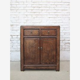 1890 China's Shanxi small dresser drawers classic double door pine