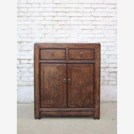 1890 China's Shanxi small dresser drawers classic double door pine