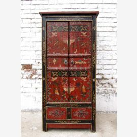 China slim dresser 90 years great traditional painting pine wood