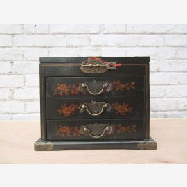 China gorgeous makeup box with mirror painted in 3 variants Pine