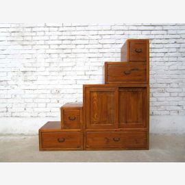 China ideal for attic stairs light brown dresser drawers on both sides openable many