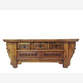 China Shandong 1810 small Lowboard for flat drawers elm