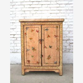 China light noble ladies dresser painted in delicate colors pine wood
