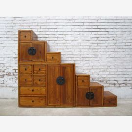 China ideal for attic stairs dresser drawers on both sides pulled out a lot of light brown