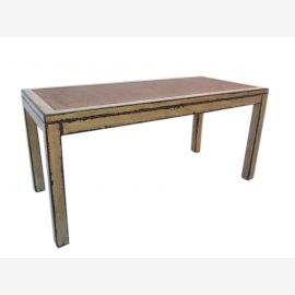 China big table dining table made ??of solid light elm wood Shabby chic