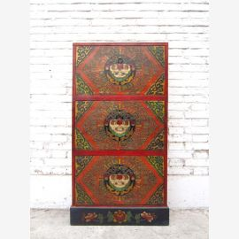 China Tibet semi dresser credenza sideboard tall slender rustic peasant style of Luxury Park