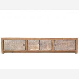China Lowboard flat sideboard ideal for large screen TV fronts white