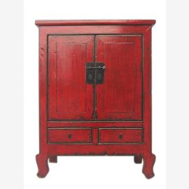 China semi- high cabinet dresser credenza china red pine