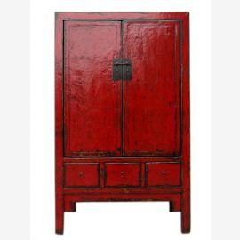 China Shanxi 1860 traditional tall cabinet dark elm wood metal fittings