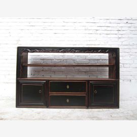China shabby chic dresser wide shelf sideboard sideboard pine antique black 70 years