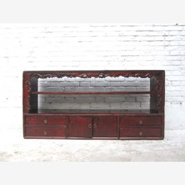 China shabby chic dresser wide shelf sideboard sideboard pine antique black 80 years