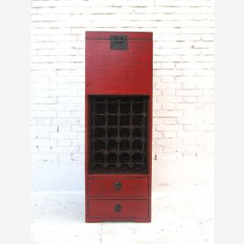 China -high dresser cabinet wine rack red-brown pine brass fitting