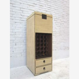China tall slender bar cabinet sideboard chest of drawers pine in two tone optic