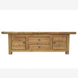 China antique Gansu in 1810 Lowboard flat sideboard ideal for flat panel poplar