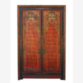 China Tibet 1910 antique dresser cupboard lacquered wood