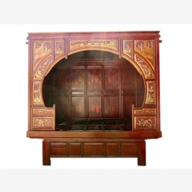 China painted in 1860 dream of a bed alcove bed exceptionally