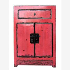 Shanxi China around 1890 small sideboard table wardrobe bright red elm.
