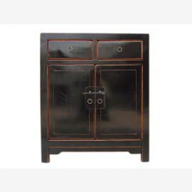 China Shanxi classic small chest of drawers bedside cabinet elm