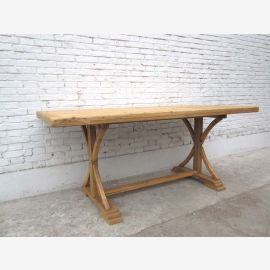 China Shanxi 1860 dining table rustic table light elm wood