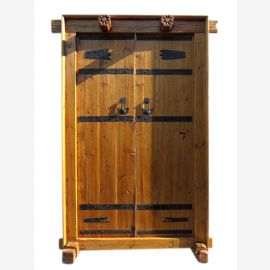 China Shanxi approx 1810 wide door gate entrance double-leaf elm wood with frame