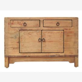 China Shanxi 1890 ancient chest of drawers dresser solid light elm
