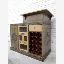 Fantastically beautiful exclusive small bar cabinet pine -planned accomodation China