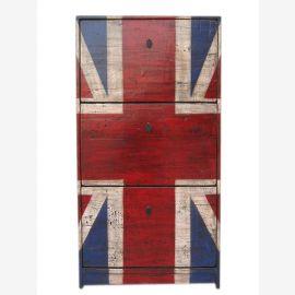 Very British GB drawers dresser credenza sideboard Union Jack optics for Britain fans