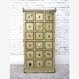 China 1950 small apothecary cabinet drawer tower collectors cabinet 18 drawers Luxury Park
