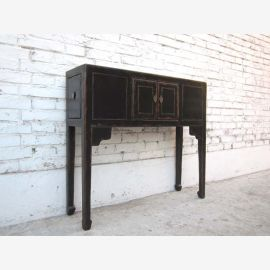 China small petite dresser dressing room table black pine lacquered of Luxury Park