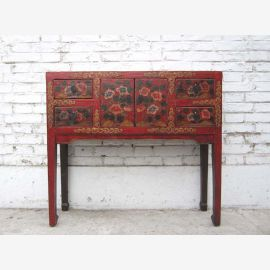 China Tibet filigree dresser dressing room table 4 drawers dresser finely painted pine wood from Luxury Park