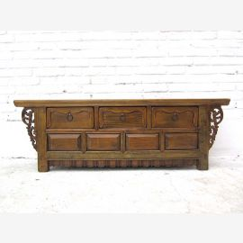 China 1910 colonial style console credenza sideboard drawers pine carved of Luxury Park