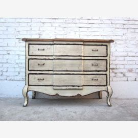 China white drawers Chest Biedermeier optics pine wood vintage by Luxury Park