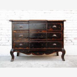 China classic brown red drawers chest of drawers in Biedermeier style pine vintage of Luxury Park
