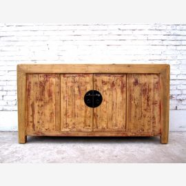 China 1930 antique sideboard sideboard bright brass buckle pine country style of Luxury Park