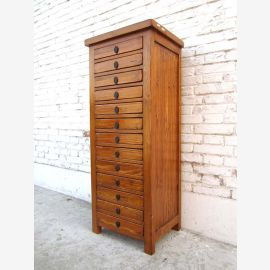 China-high credenza dresser drawer office collector cabinet pine golden brown finish here at Luxury Park