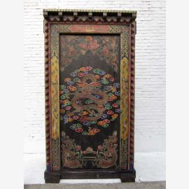 China 1930 antique grand painted pine wood door door with solid frame jewelry rarity of Luxury Park