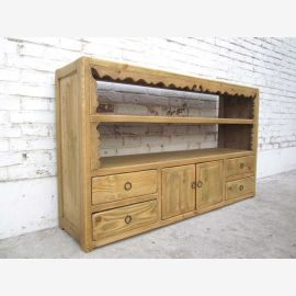 China Tibet 1930 ancient dresser shelf sideboard light stained pine wood from Luxury Park