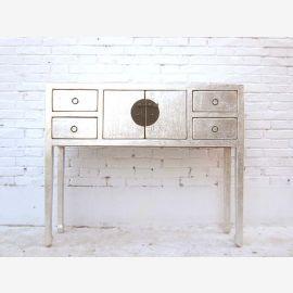 China elegant long-legged sideboard table wardrobe white lacquered pine snow of Luxury Park