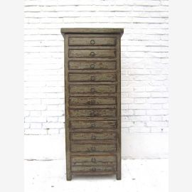 Shabby chic for the office half-height drawer Chest Collectors Cabinet Bisley style dark gray pine Luxury Park