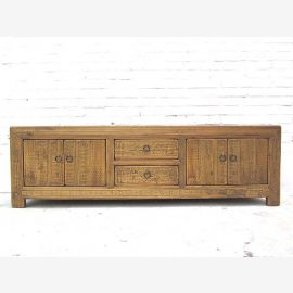 China 1870 long low sideboard Sideboard for TV Flatscreen light poplar wood cottage style of Luxury Park