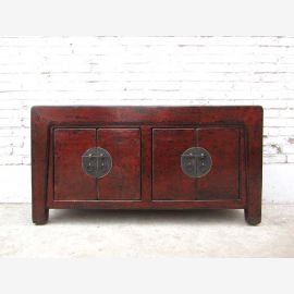 China credenza sideboard chest of drawers circa 1920 colonial auburn pine wood vintage fine finish of Luxury Park