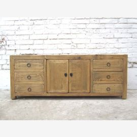 China cute little sideboard Sideboard dresser for TV flat six drawers country style of Luxury Park
