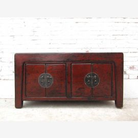 China before 1930 Dresser Sideboard colonial dark brown painted pine with an elegant vintage patina of Luxury Park