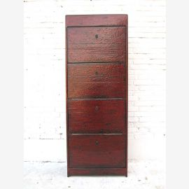China high dresser shoe cabinet four drawers solid pine reddish brown of Luxury Park
