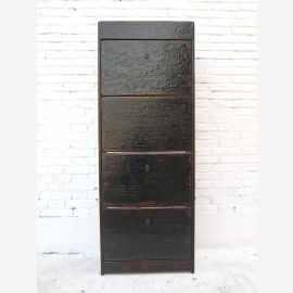 China high classic shoe cupboard dresser massive black lacquered pine of Luxury Park