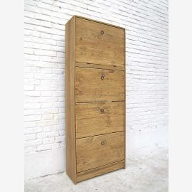 "China high shoe cabinet dresser drawer tower natural color solid pine bleached ""Luxury-Park"""