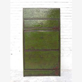 "China Shoe cabinet painted in english green shabby chic look three compartments lateral thrusts a bestseller by ""Luxury-Park"""