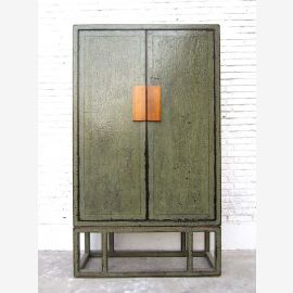 China large closet double door gray green Modern style solid pine