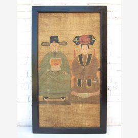 "Ancient China great classic mural motif wedding couple on painted wood by ""Luxury-Park"""